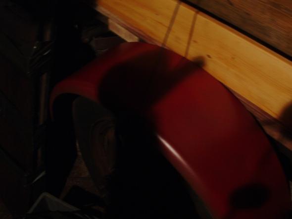 red rear fender