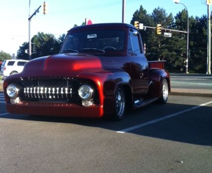 A warm day brought out a couple of vehicles ncluding this Ford Hot Rod!